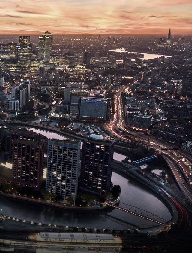 London Skyline and City Island