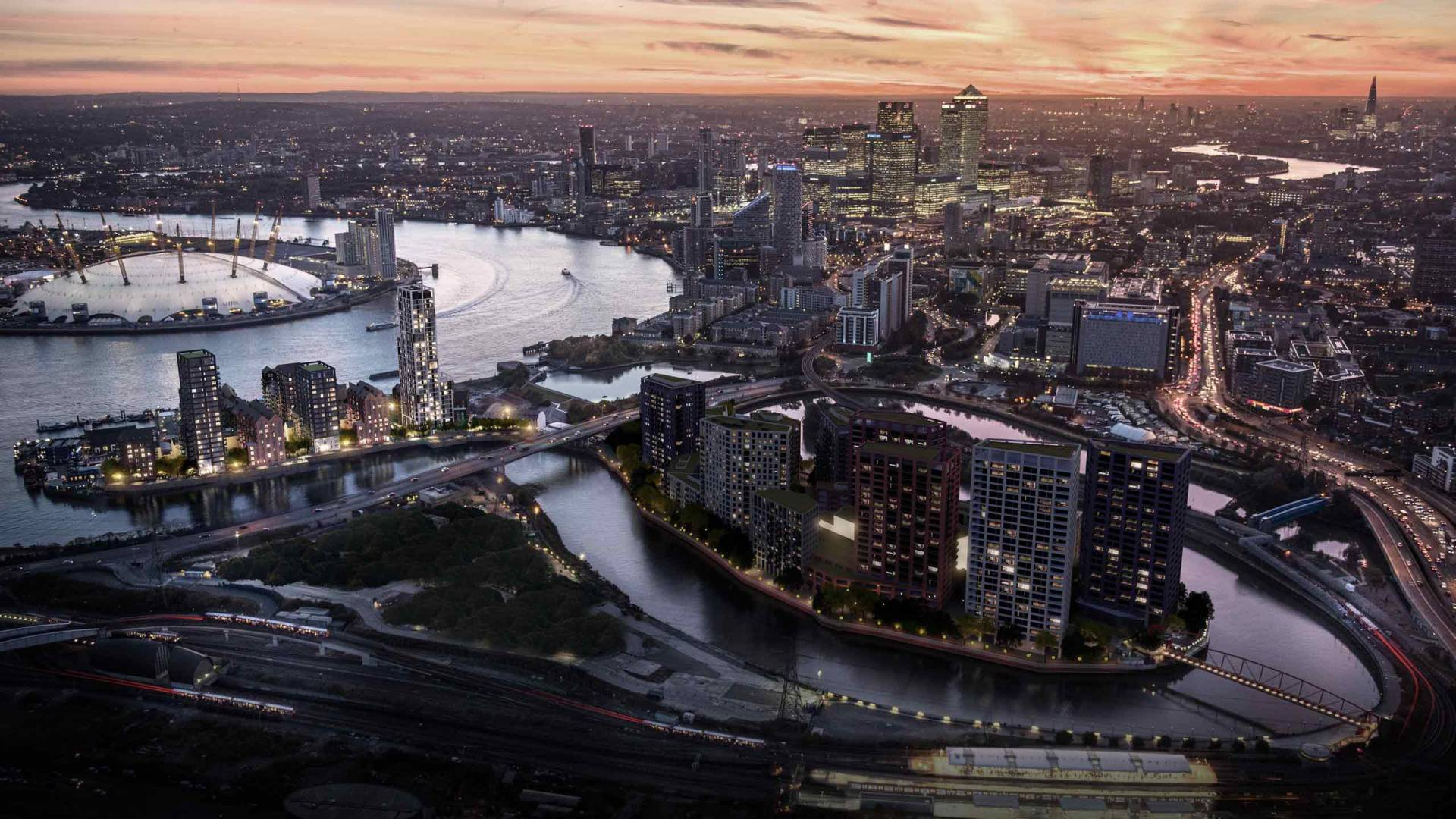 london-city-island-aerial-view-goodluck-hope-o2-canary-wharf
