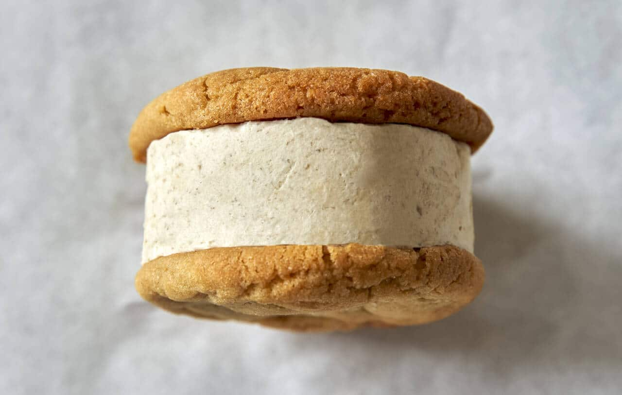 An ice cream sandwich from Hazel's Crèmerie
